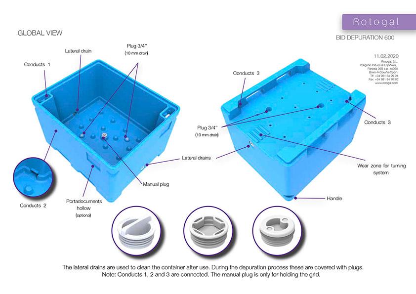 contenedores isotérmicos para depuración