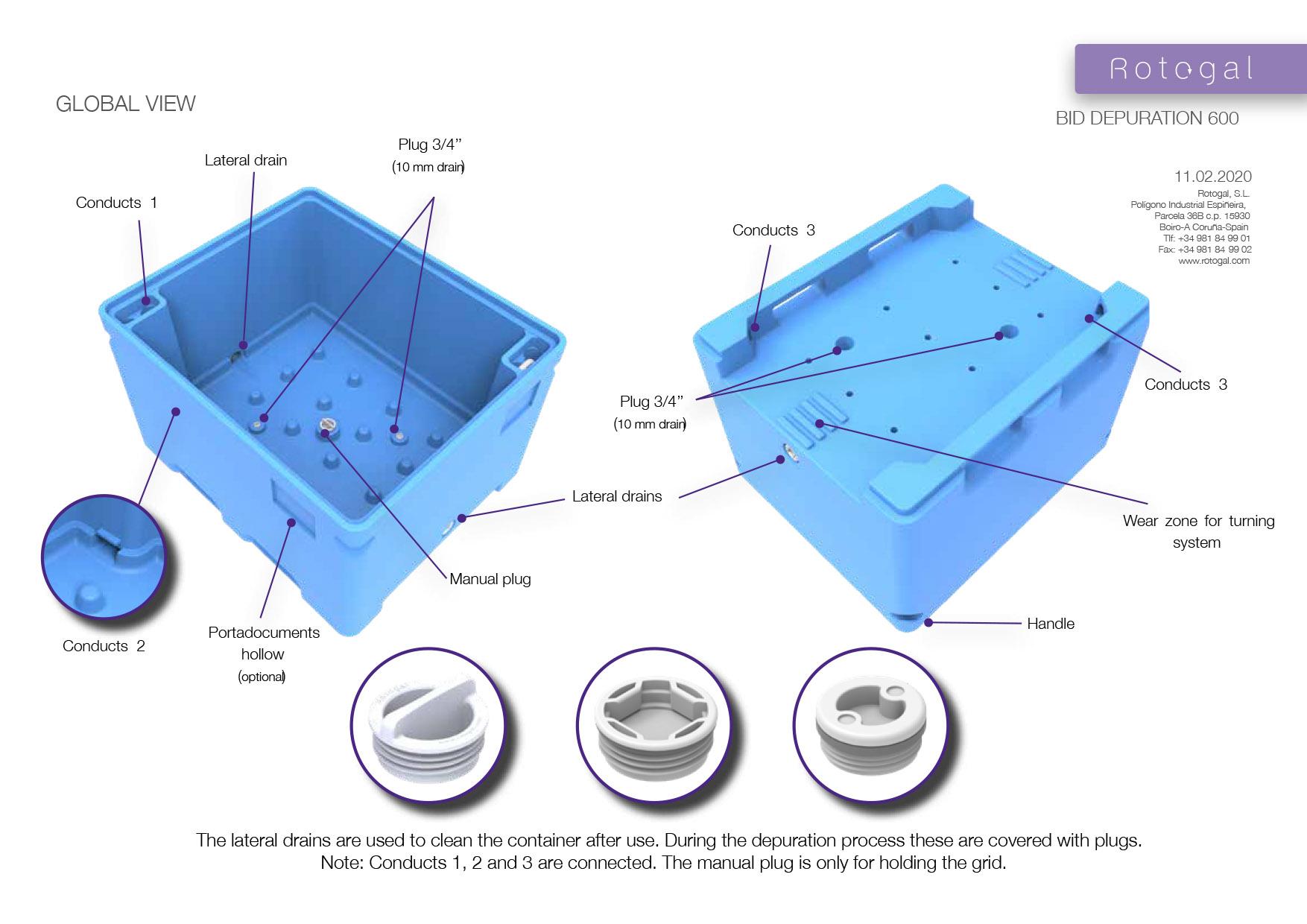 Conteneurs isothermes pour la purification